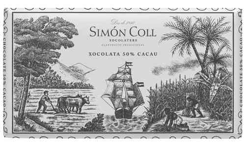 "CHOCOLATE ""SIMON COLL"" 50% CACAO 200 gr."